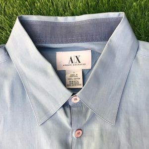 Armani Exchange Button Front Half Sleeve Shirt Med